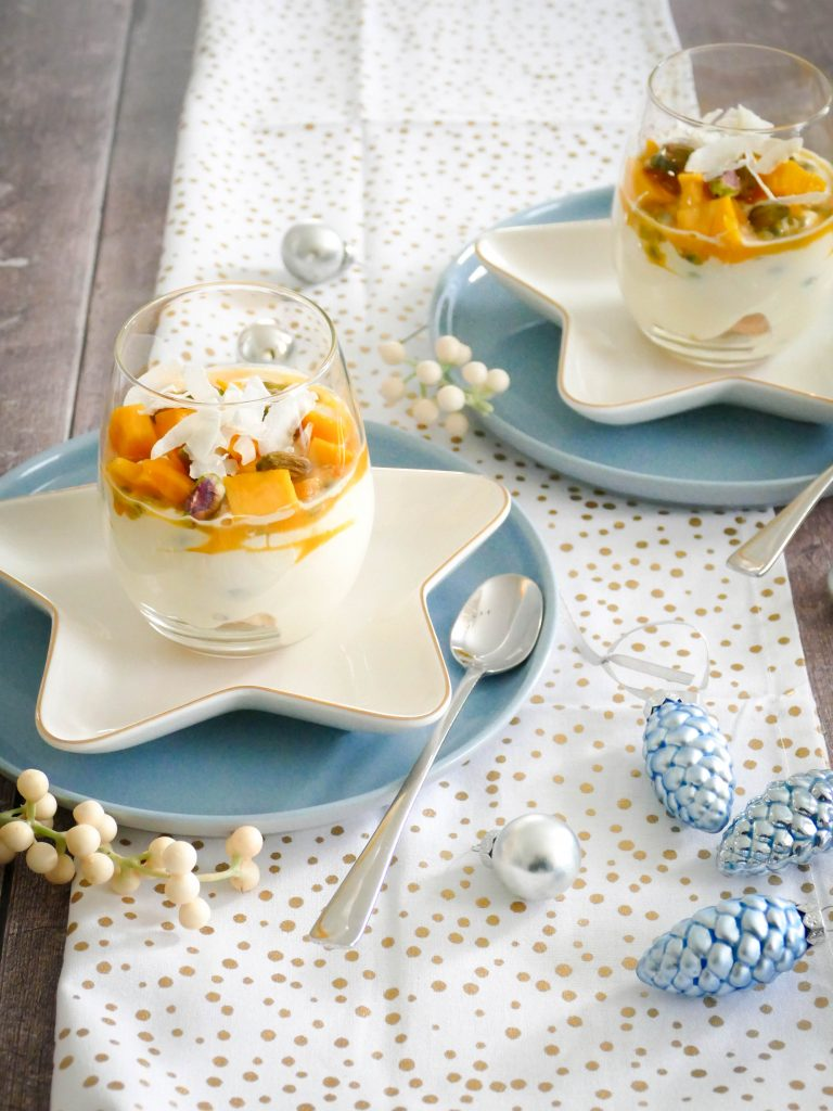 Tiramisu met passievrucht en mango