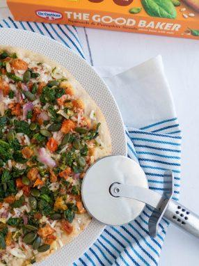 Dr. Oetker - The good baker pizza met onder andere spinazie en pompoenpitten